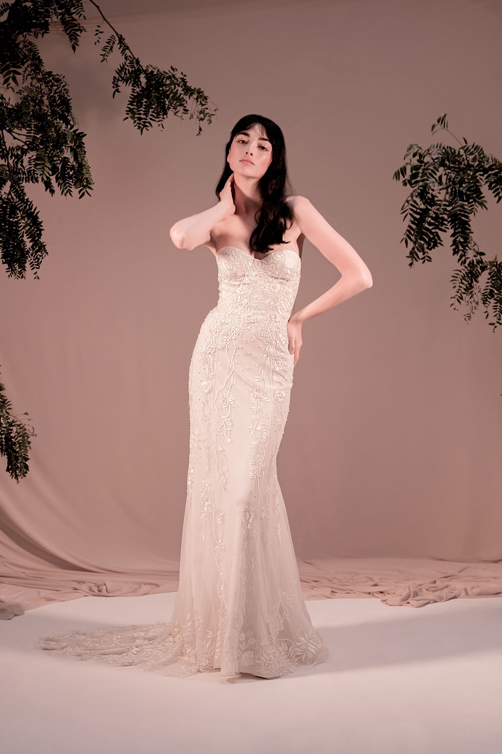 Hermione de Paula custom wedding dresses