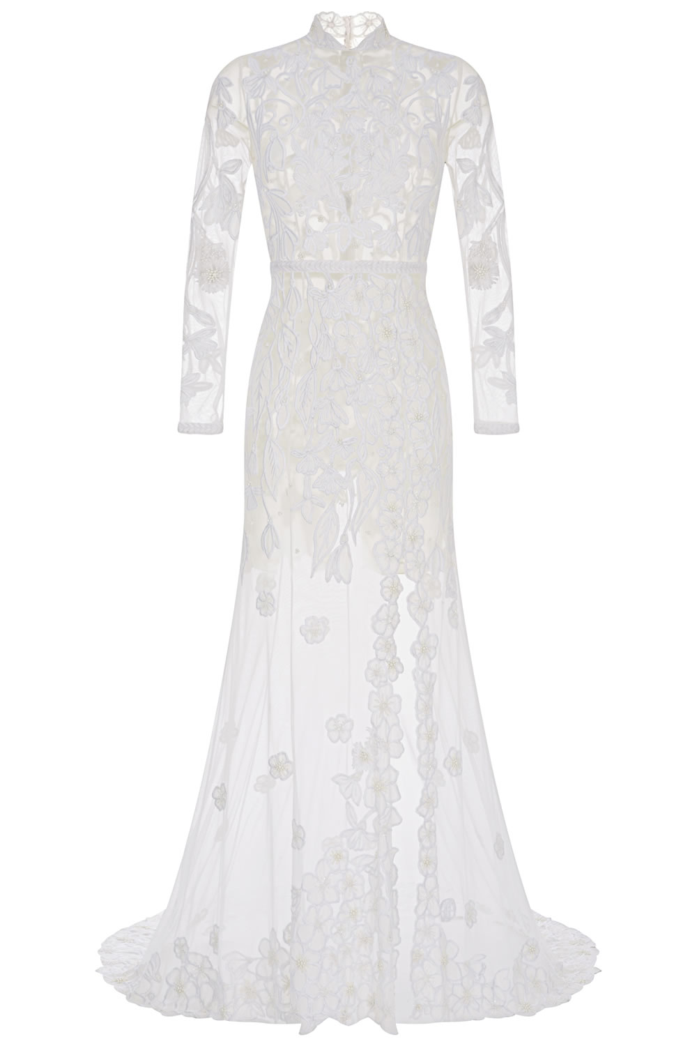 Forget Me Not & Fritillaria Bespoke Wedding Gown 1