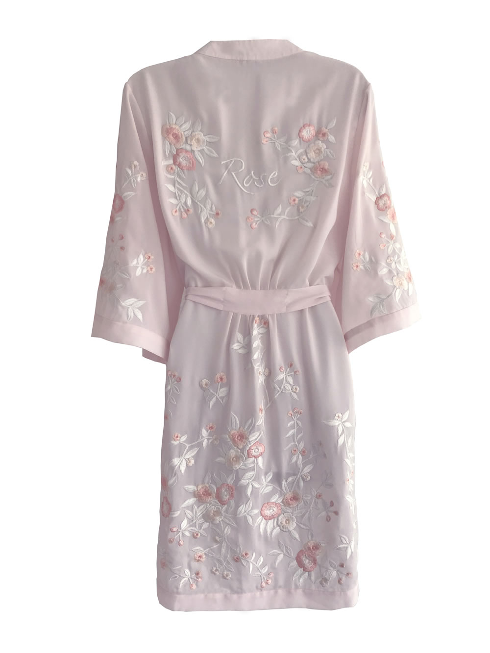 Pink Rose Robe HdeP Bridal Pink Rose Robe 2